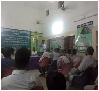 Trainee in training of progressive farmers and insecticides